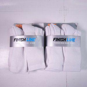 12 Pairs (Two 6-Packs) Finish Line Premium Crew